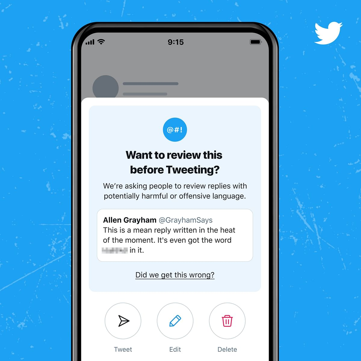 Twitter rolls out new test to flag offensive content on its platform.