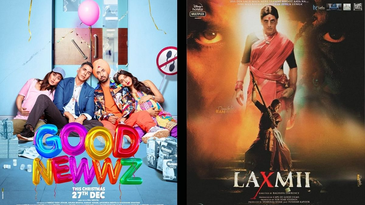 Akshay Kumar co-produced Laxmii, which released on Disney+ Hotstar.  While Good Newwz released in theatres and became a box office hit.