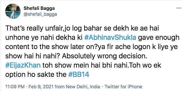 BB14: Rashami Desai, Kamya Punjabi Call Abhinav's Eviction Unfair