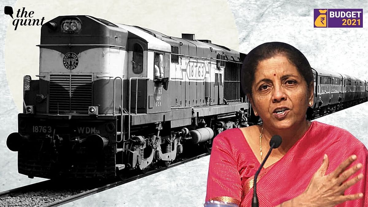 Budget 2021: FM Sitharaman Allocates Rs 1.1 Lakh Crore to Railways