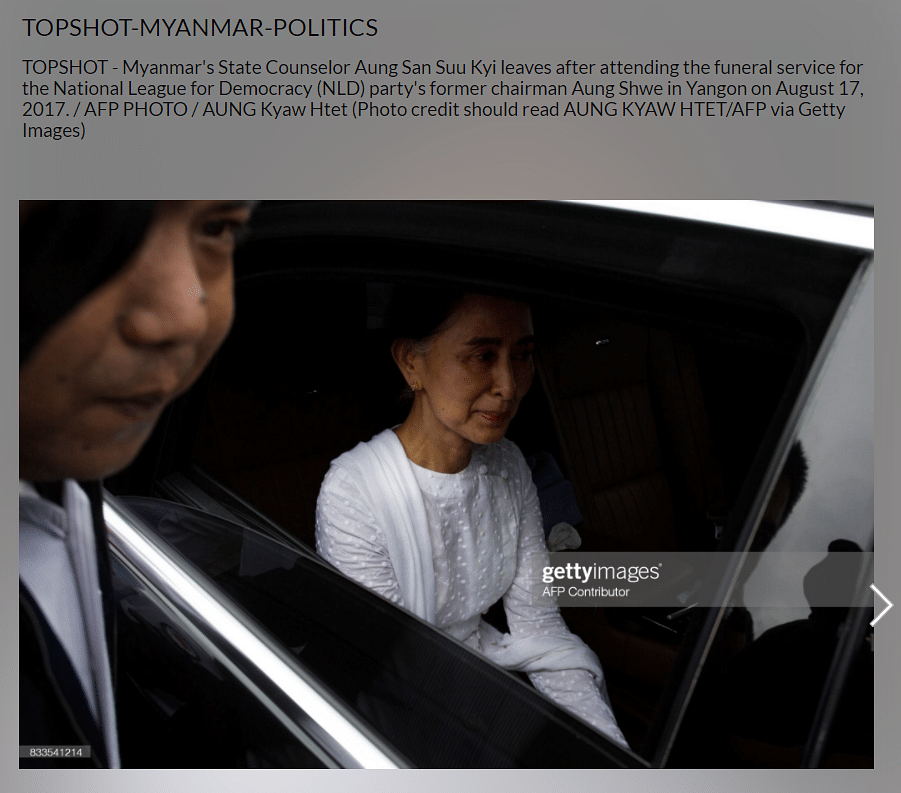 Old Image of Myanmar's Aung San Suu Kyi Revived Post Military Coup