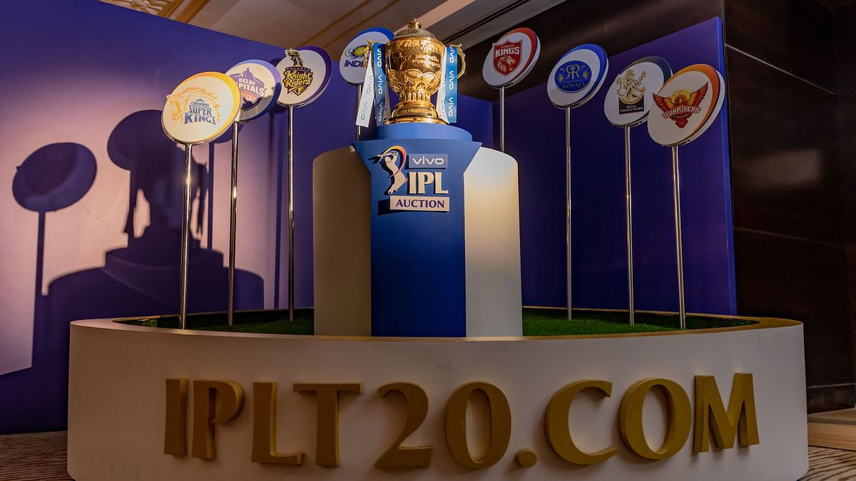 Vivo IPL Trophy at the IPL Player Auction.