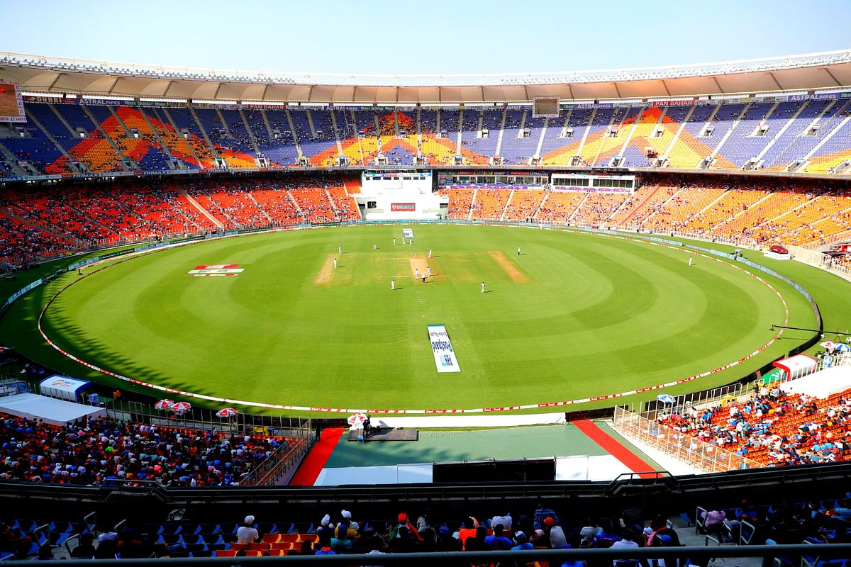 The cricket stadium at Motera has been renamed Narendra Modi Cricket Stadium.