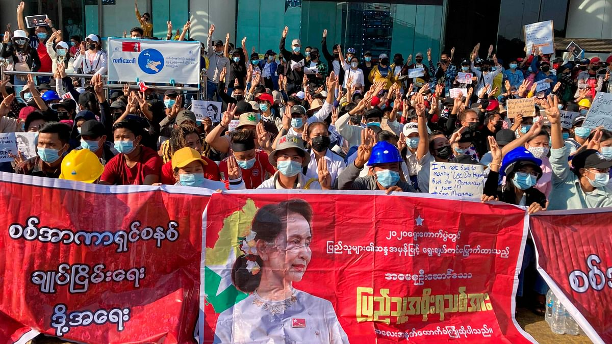 Widespread Anti-Coup Protests in Major Myanmar Cities on Day 5