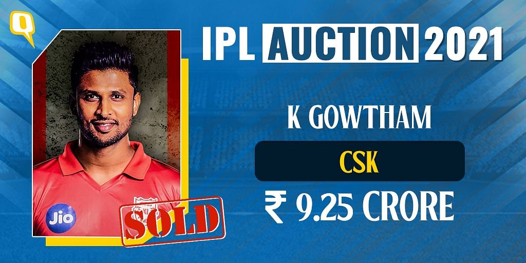 K Gowtham Becomes IPL's Most Expensive Uncapped Player