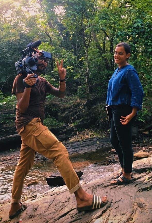 The crew shooting  'My Mollem: Goa's Green Heart'
