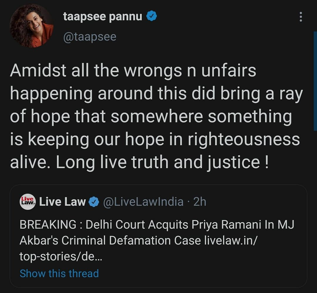 Long Live Truth & Justice: Twitter on Priya Ramani's Acquittal