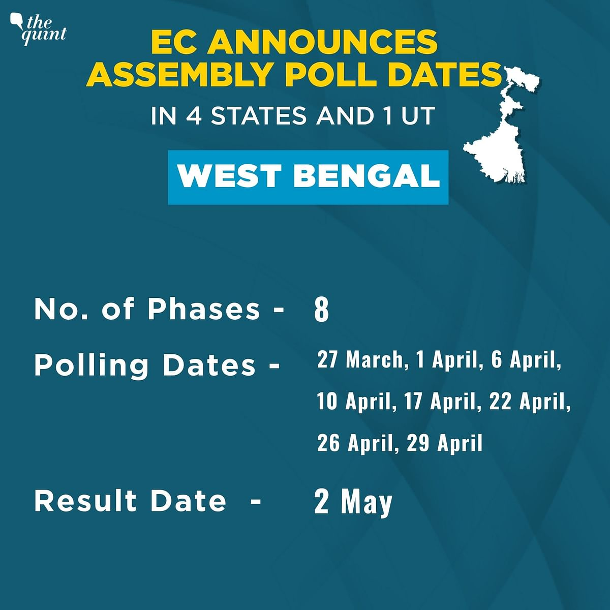 Assembly Polls: Counting of Votes In WB, 3 Other States on 2 May