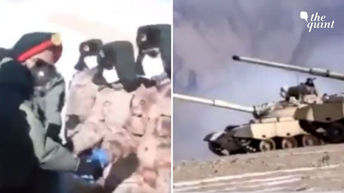 In the 1.15-minute clip being shared on social media, visuals of the formal meeting of the disengagement and the tanks of the Indian Army and Chinese PLA being disengaged can be seen.