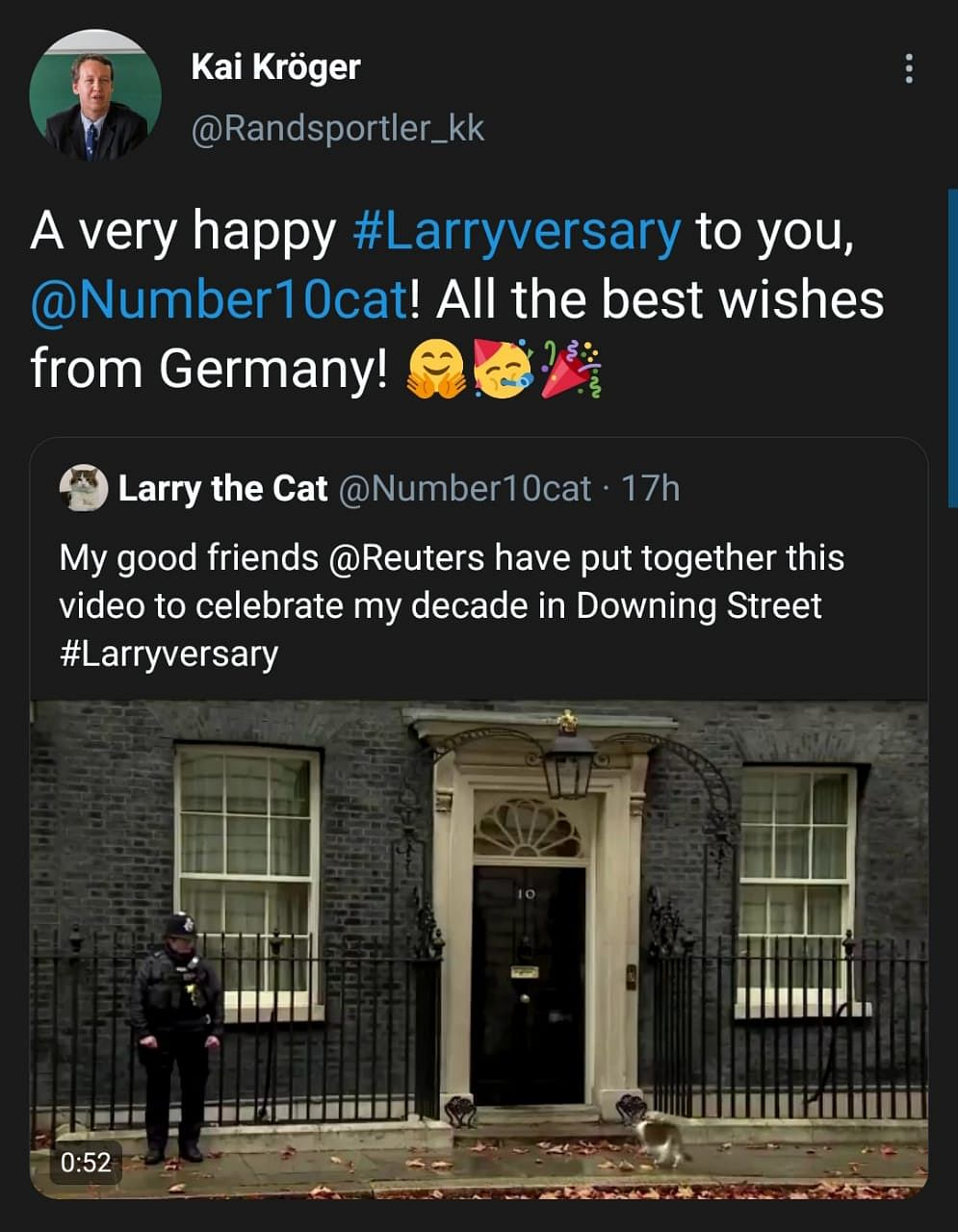 Cute Alert: Twitter Celebrates #Larriversary for Tomcat Larry