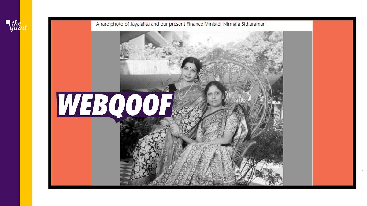 No, Woman Seen With Jayalalithaa Isn't Fin Min Nirmala Sitharaman