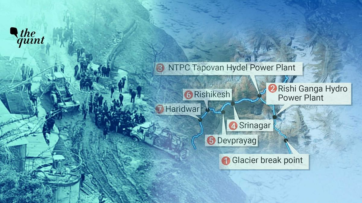 Here is a map tracing the destruction caused due to the Chamoli tragedy.
