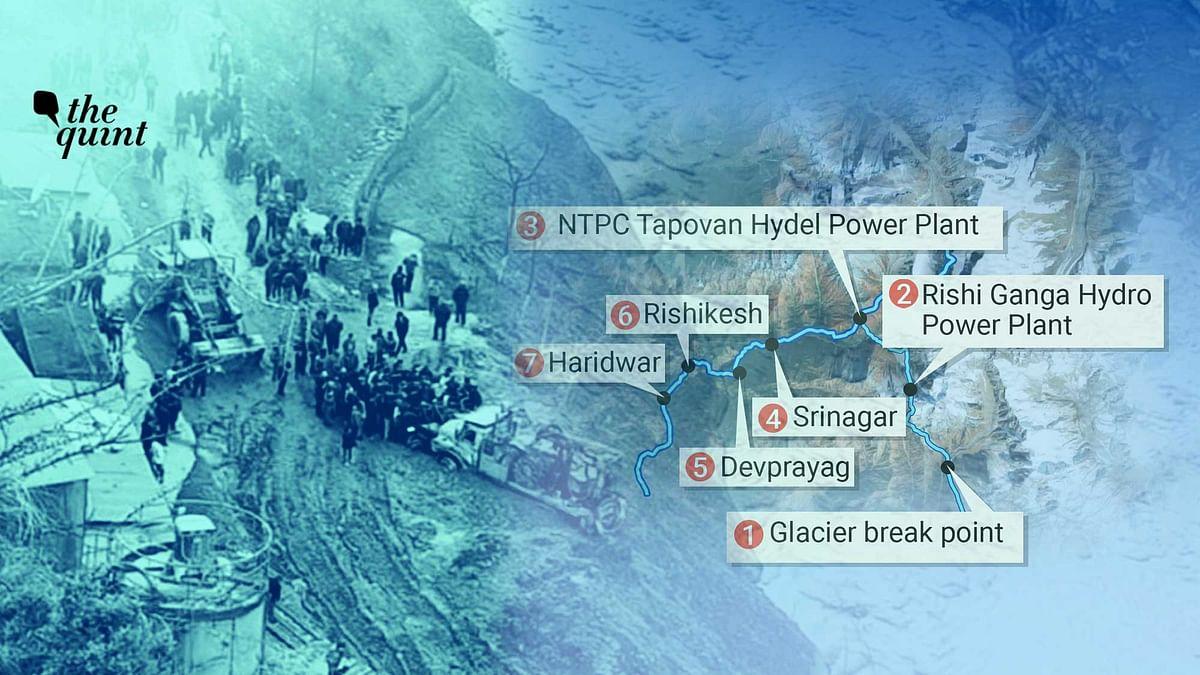 Calamity Trail: Map Shows How Chamoli Glacier Break Wreaked Havoc