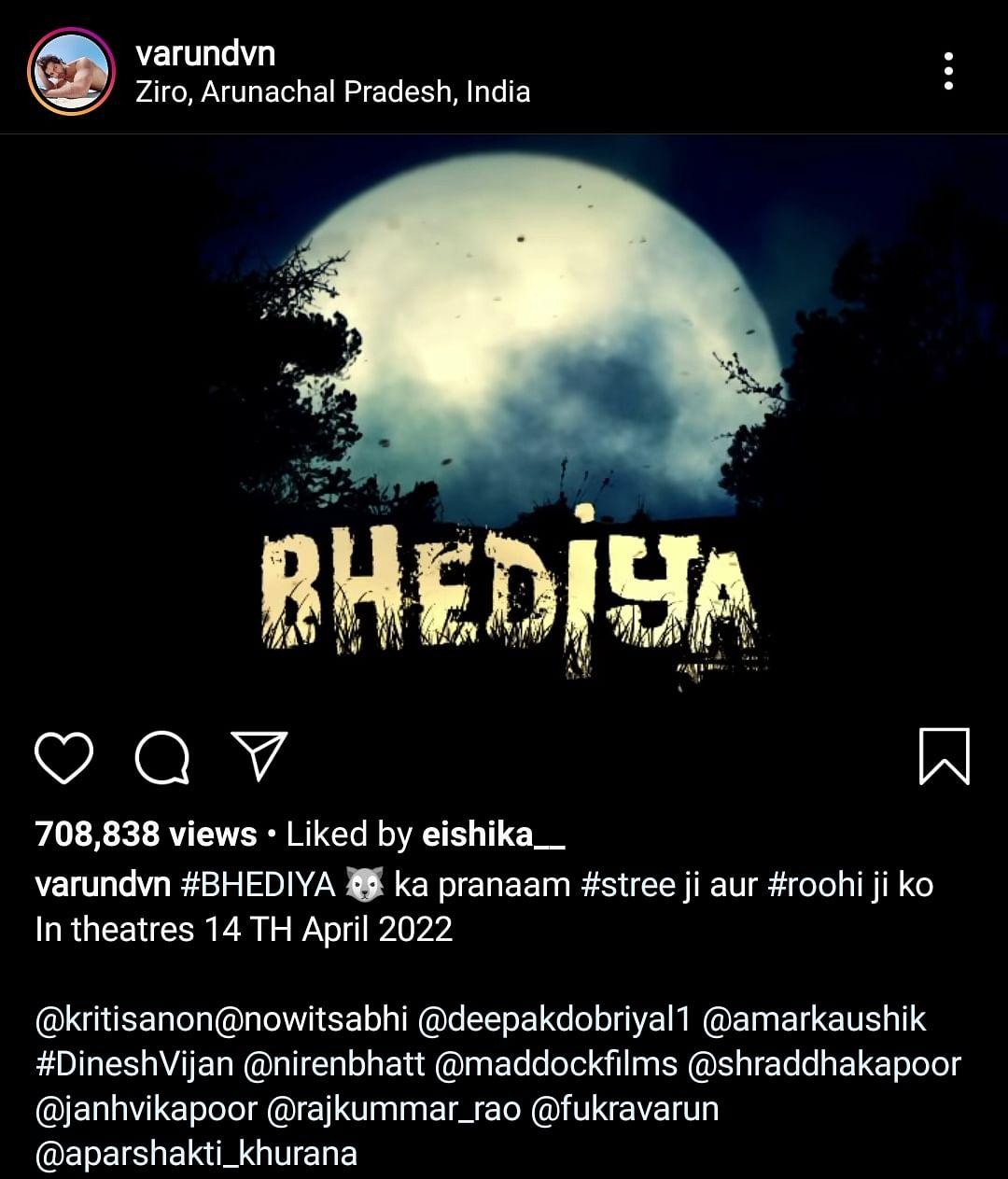 Varun Dhawan, Kriti Sanon Join the Horror Universe With Bhediya