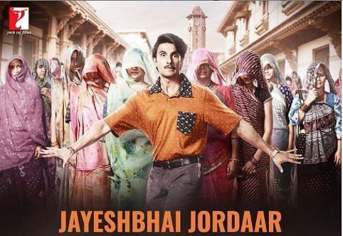 Ranveer Singh in the poster for <i>Jayeshbhai Jordaar</i>