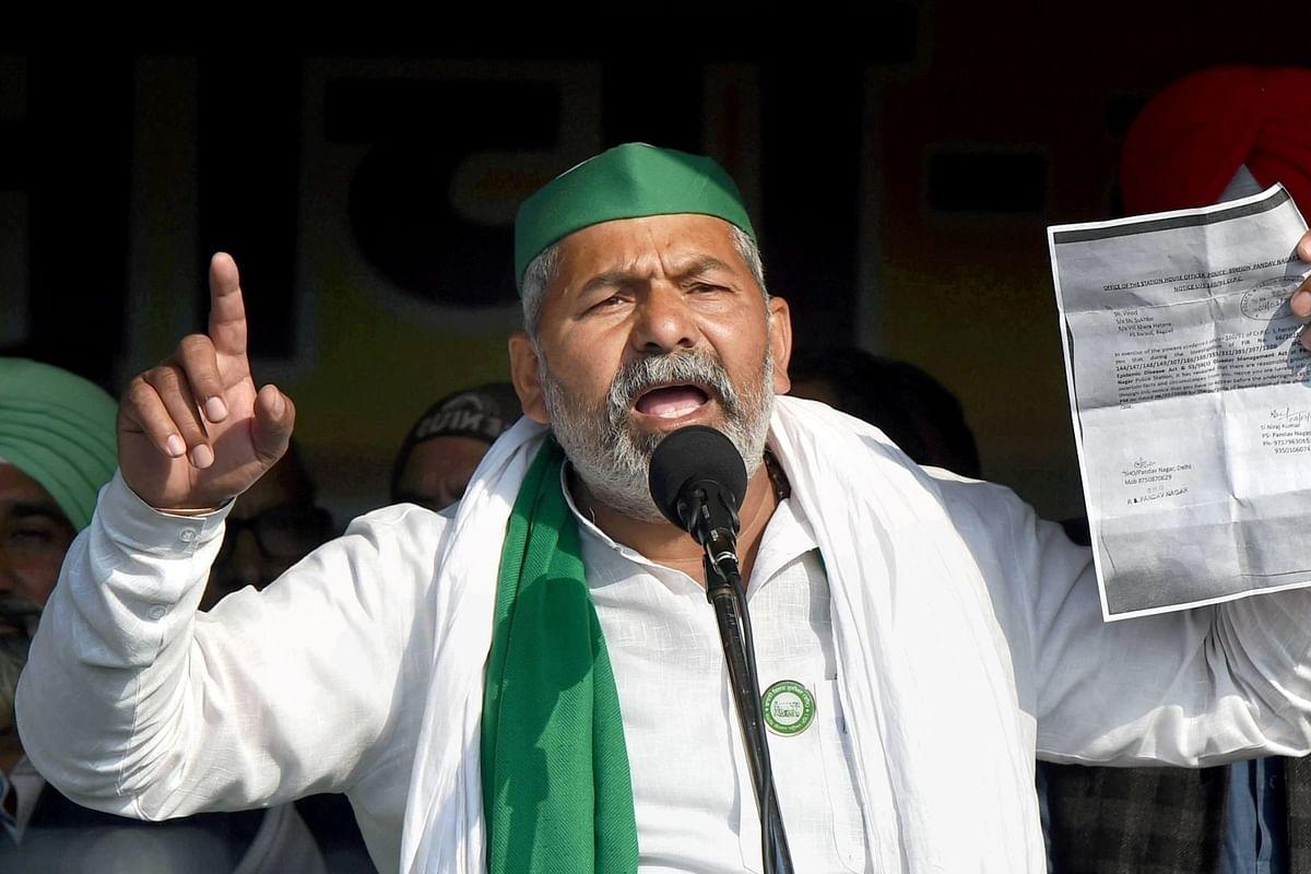 File photo of Bharatiya Kisan Union (BKU) leader Rakesh Tikait.