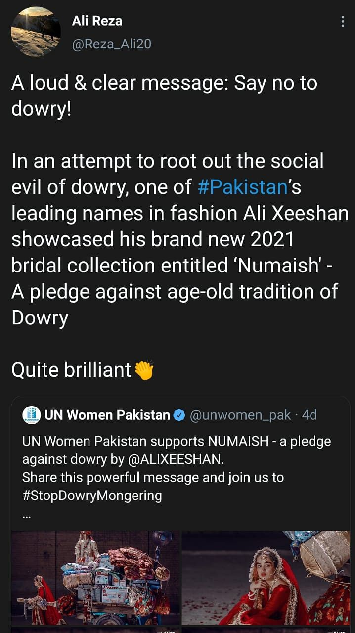 Pak Designer's Latest Collection Is a Cry To Put an End To Dowry