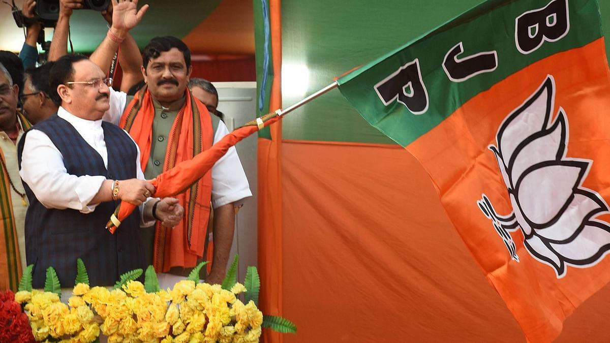 BJP National President J P Nadda inaugurates the party's <i>Poriborton Yatra</i> ahead of Assembly polls, at Nawadwip in Nadia.&nbsp;