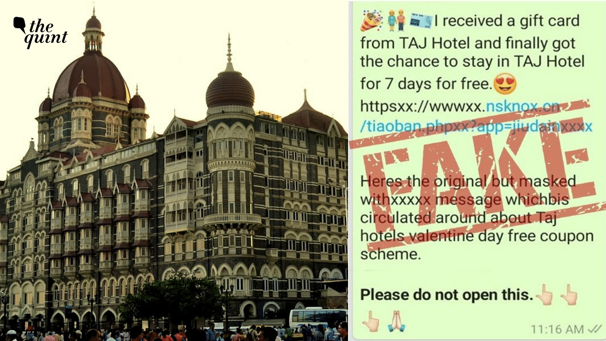 Free Stay at Taj Hotel for Valentine's Day? Beware, It's a Scam