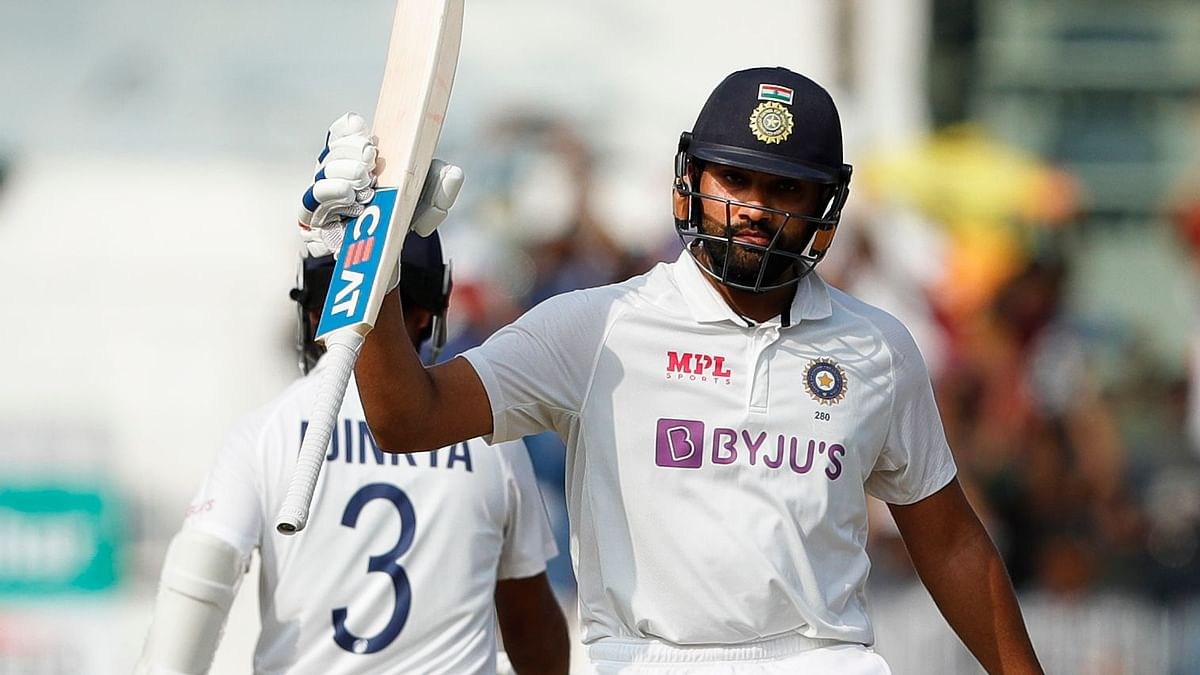 Rohit Sharma scored 161 on Day 1 of the Chennai Test against England.