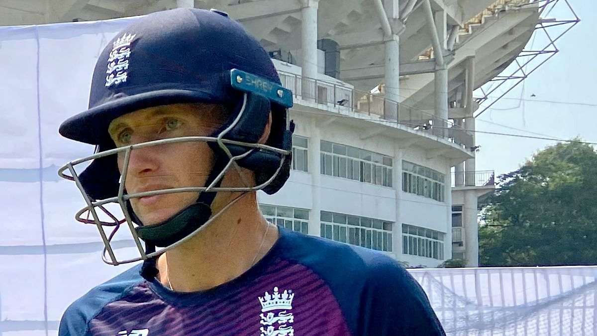 England captain Joe Root looks on during training in Chennai.