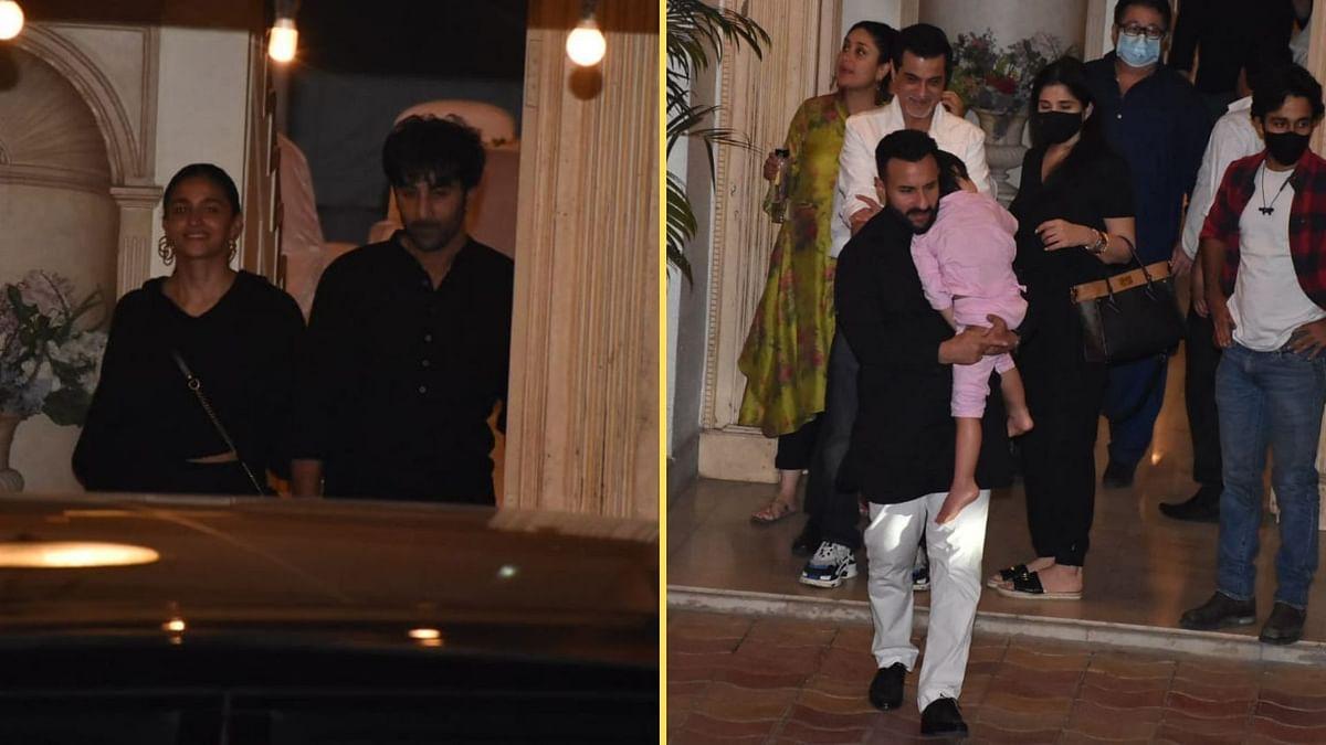 Ranbir, Alia, Saif, Kareena Attend Randhir Kapoor's B'day Bash