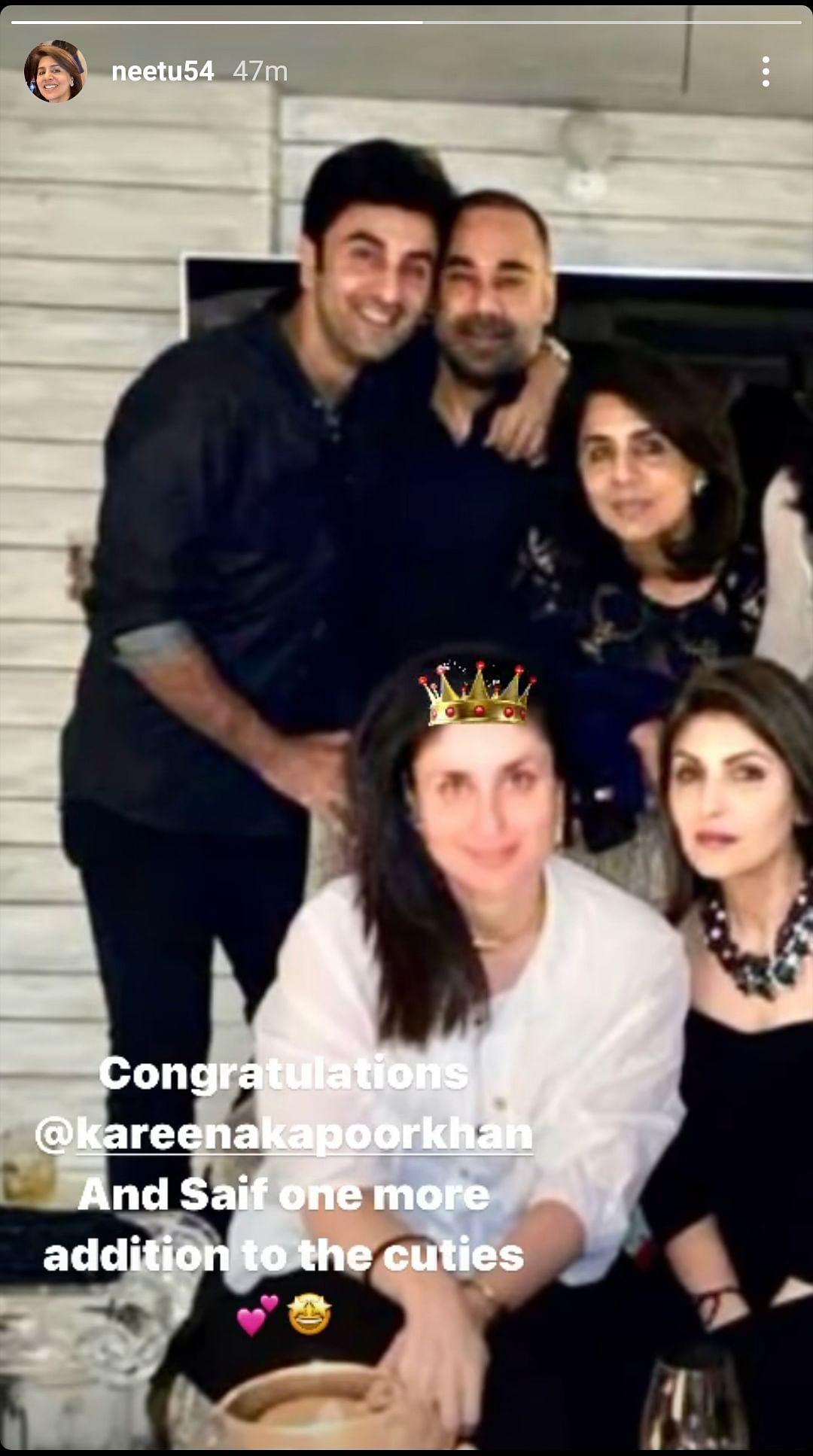 Karisma, Riddhima, Neetu Kapoor Congratulate Saif & Kareena