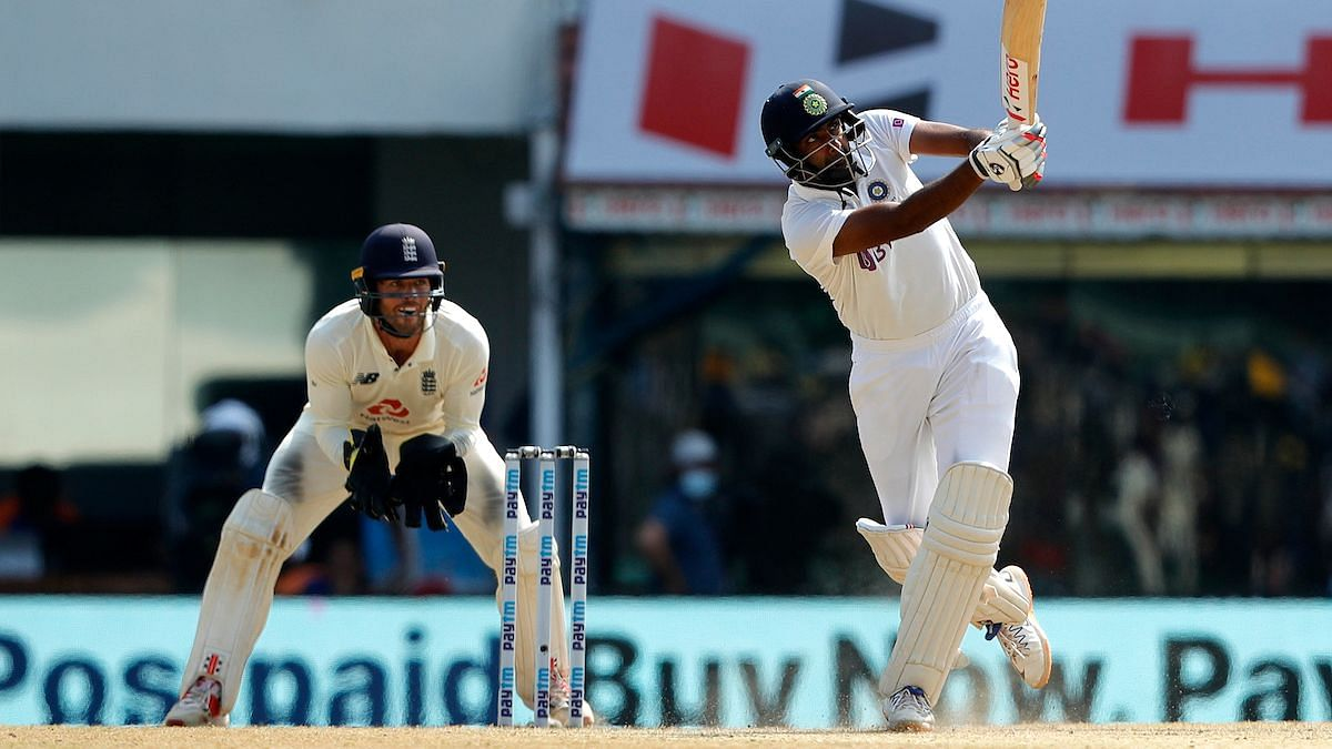 R Ashwin top scored in the 2nd innings for India in the 2nd Chennai Test against England.