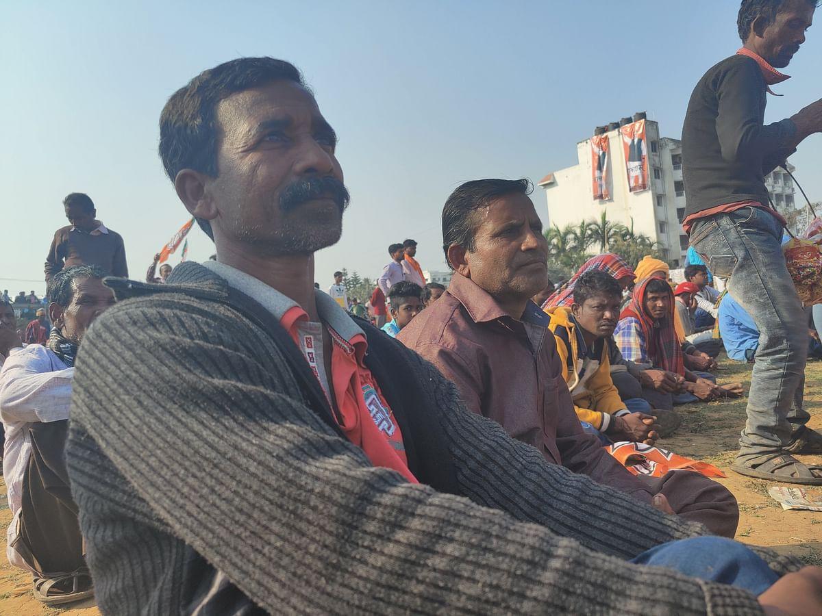 Pradip Bagdi at the rally.