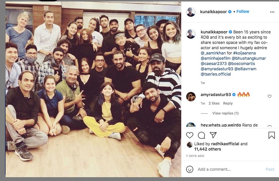 Watch: Aamir Khan & Elli AvrRam  Shake a Leg on 'Koi Jaane Na' Set