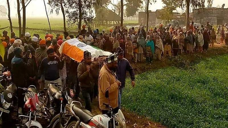 The mother and brother of deceased Uttar Pradesh farmer Balvinder Singh have been booked on charges of disrespecting the national flag after they allegedly draped Singh in the Tricolour during his funeral procession on Wednesday, 3 February.