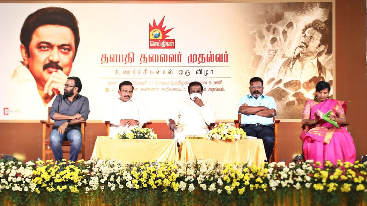 DMK President MK Stalin has been criticised for inviting poet and lyricist Vairamuthu, as the chief guest for an event.