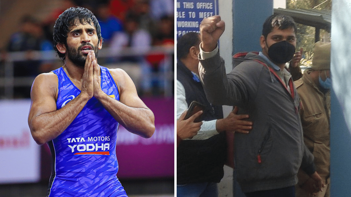 Indian wrestler has questioned the arrest of journalist Mandeep Singh who was covering the farmers' protest.