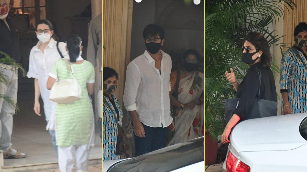 Pics: Karisma Kapoor, Ranbir Kapoor Pay Respect To Rajiv Kapoor