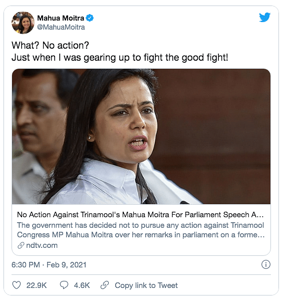 No Action Against Mahua Moitra For CJI Remark, But What Was Said?