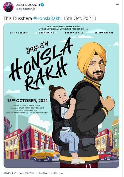 Diljit Dosanjh Turns Producer In Shehnaaz Gill-Starrer Honsla Rakh