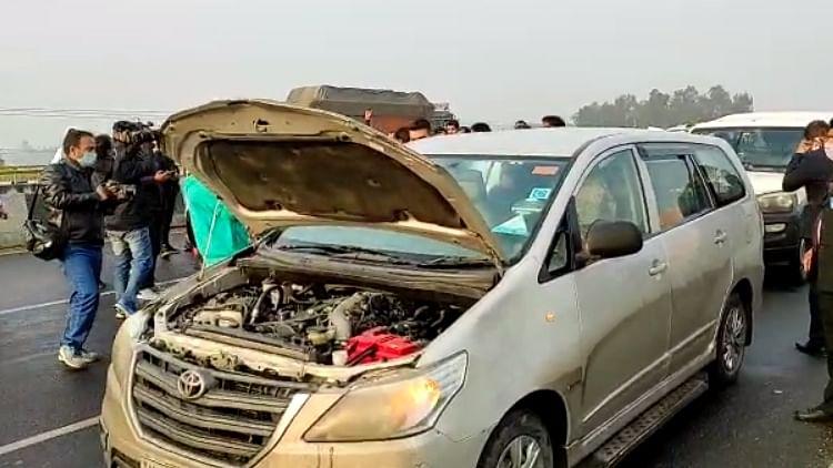 Cars in Priyanka's Convoy Collide On Way To Farmer's Prayer Meet