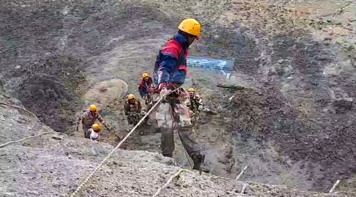 Rescue operations underway at Tapovan tunnel.
