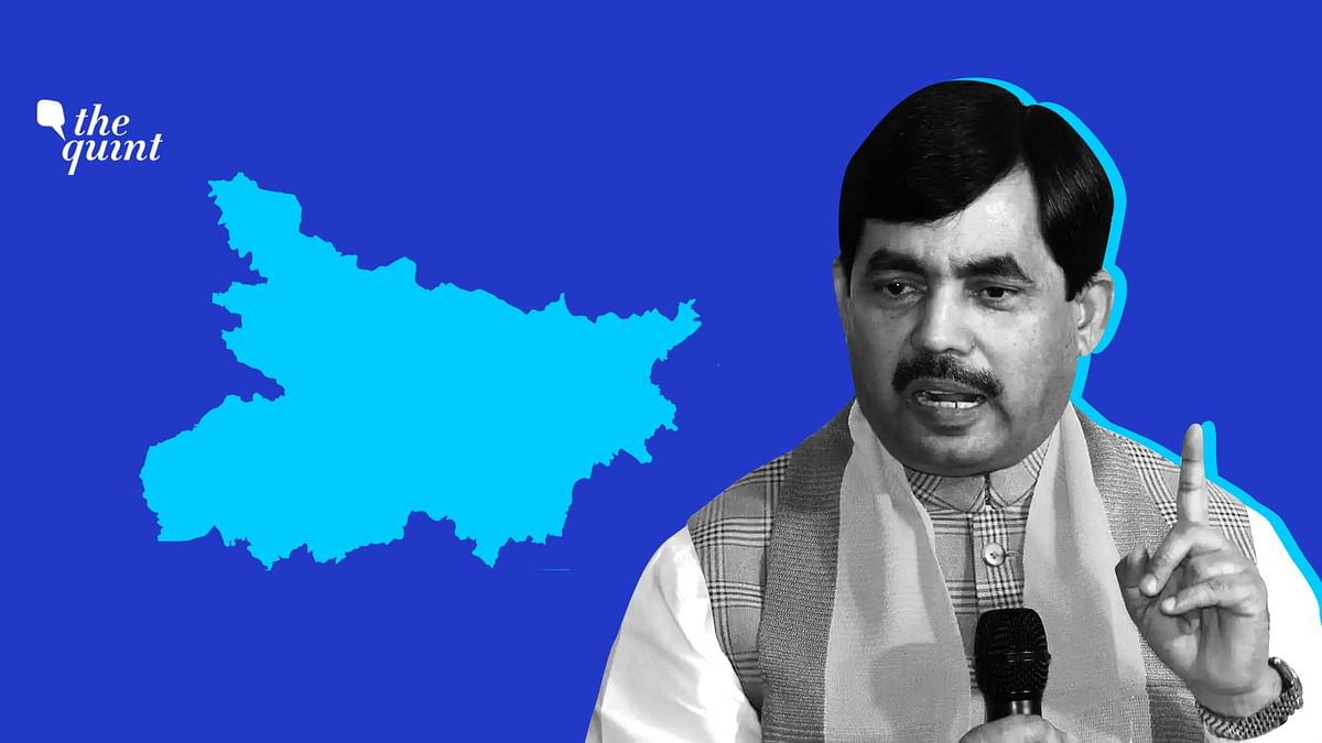 Image of Bihar map and Shahnawaz Hussain used for representational purposes.