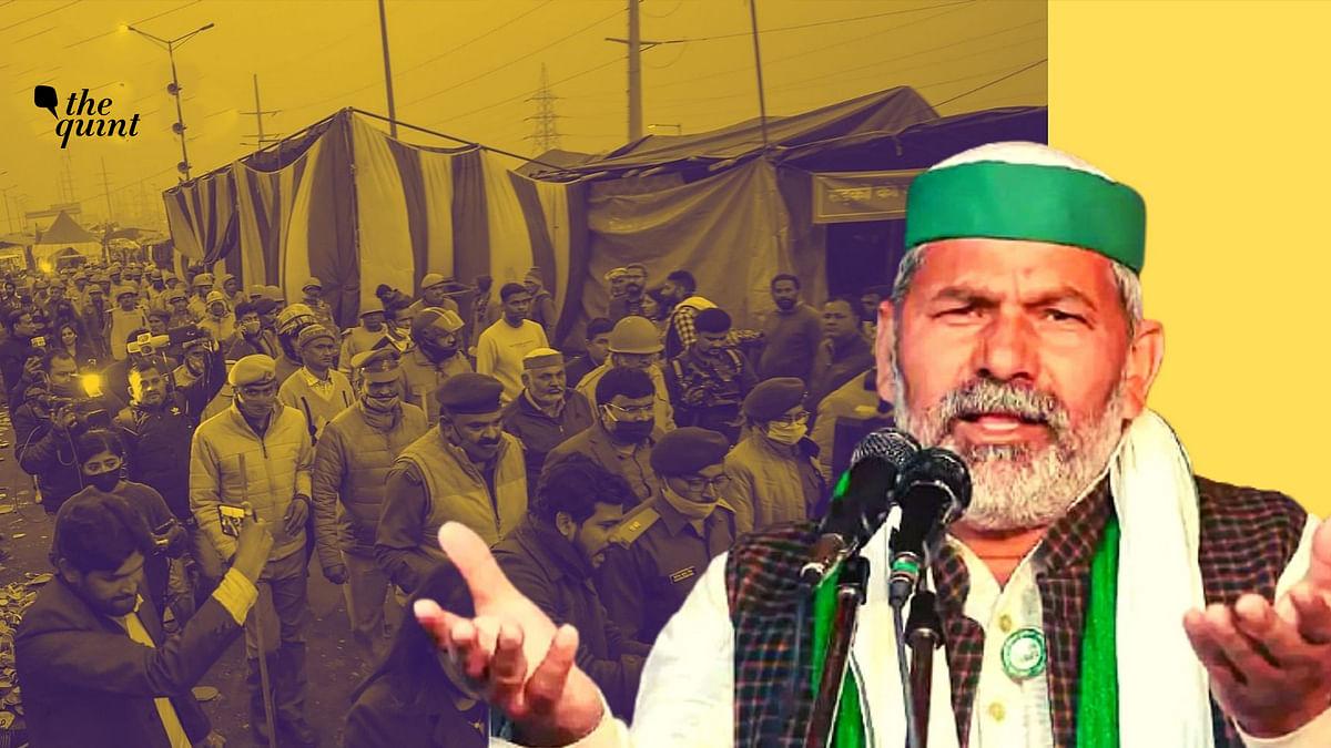<b>The Quint </b>speaks to farmers' leader Rakesh Tikait. Image used for representation.&nbsp;