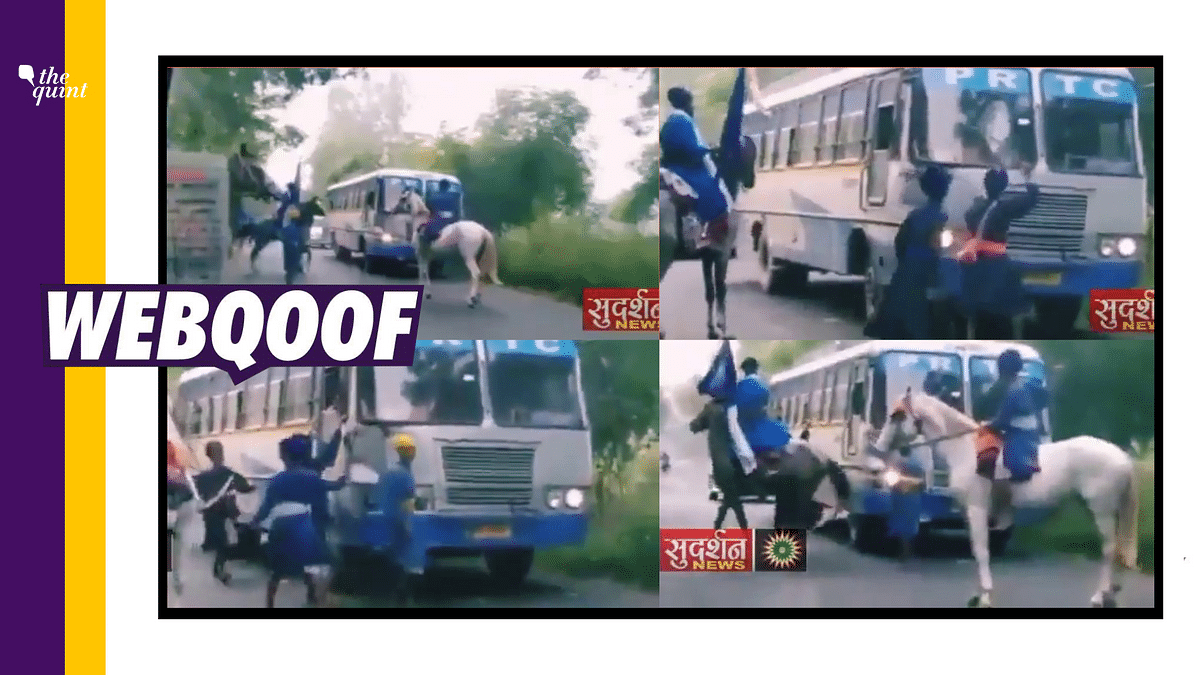 Old Video of Nihang Sikhs Attacking Bus Revived Amid Farm Protests