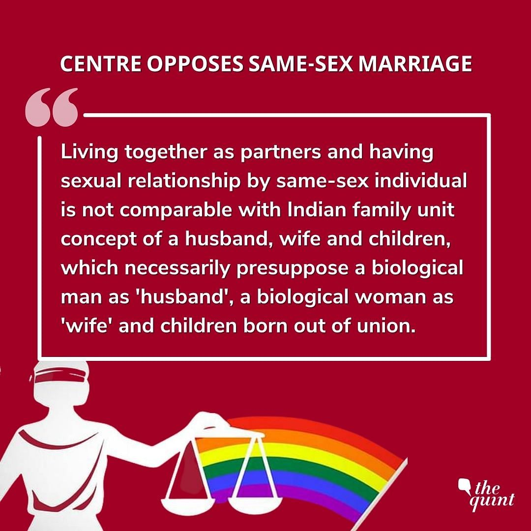 'Only Man & Woman Make a Family': Centre Opposes Same-Sex Marriage