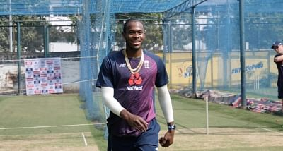 Jofra Archer at a training session in Chennai .