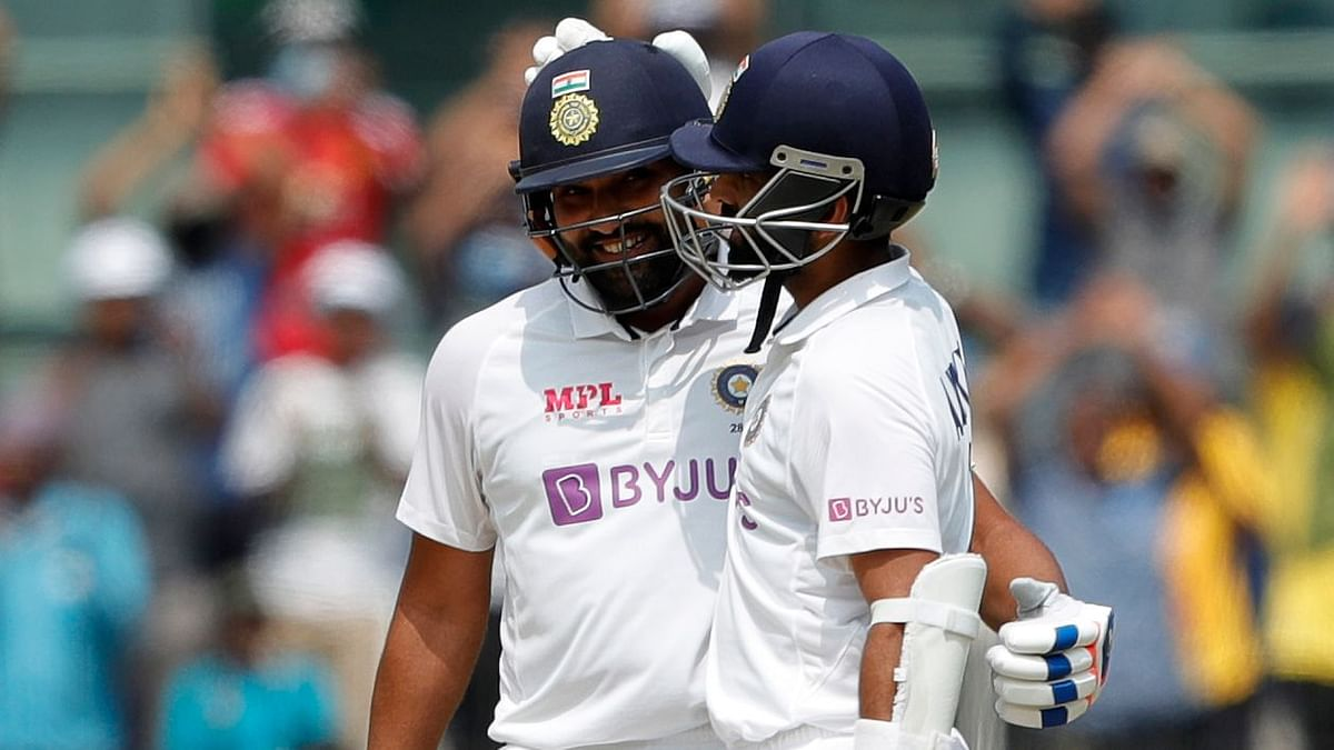 Rohit Sharma and Ajinkya Rahane put on a century partnership on Day 1 of the Chennai Test.