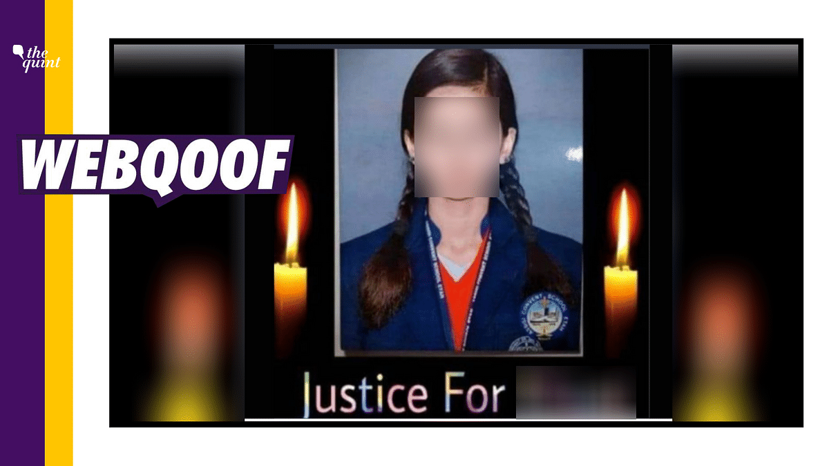 The viral image is actually from a case in Etah, Uttar Pradesh, where a 16-year-old girl reportedly died by suicide.