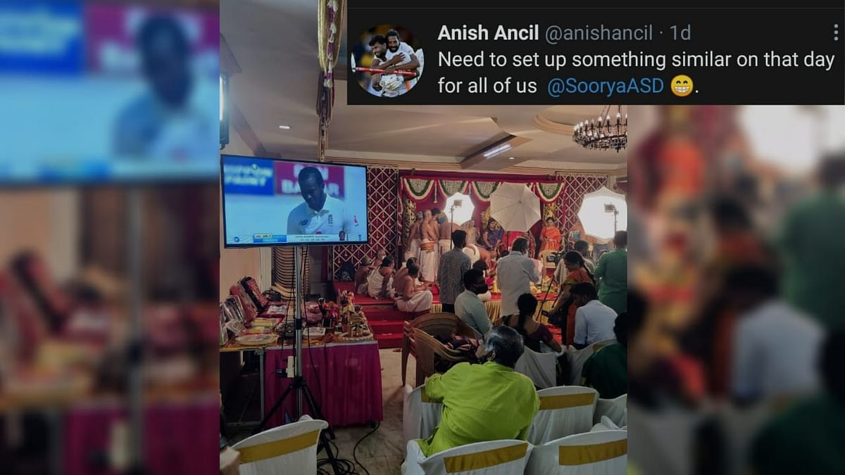 Live Screening Of Cricket Match In Wedding Goes Viral