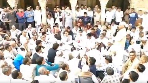 Clashes broke out between BJP and RLD during BJP MP Sanjeev Balyan's visit to Muzaffarnagar's Soram village.