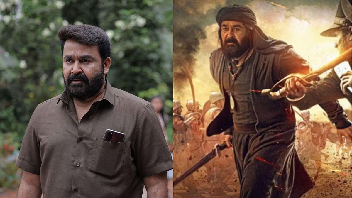 Mohanlal in <i>Drishyam 2 </i>and <i>Marakkar: Arabikadalinte Simham.</i>