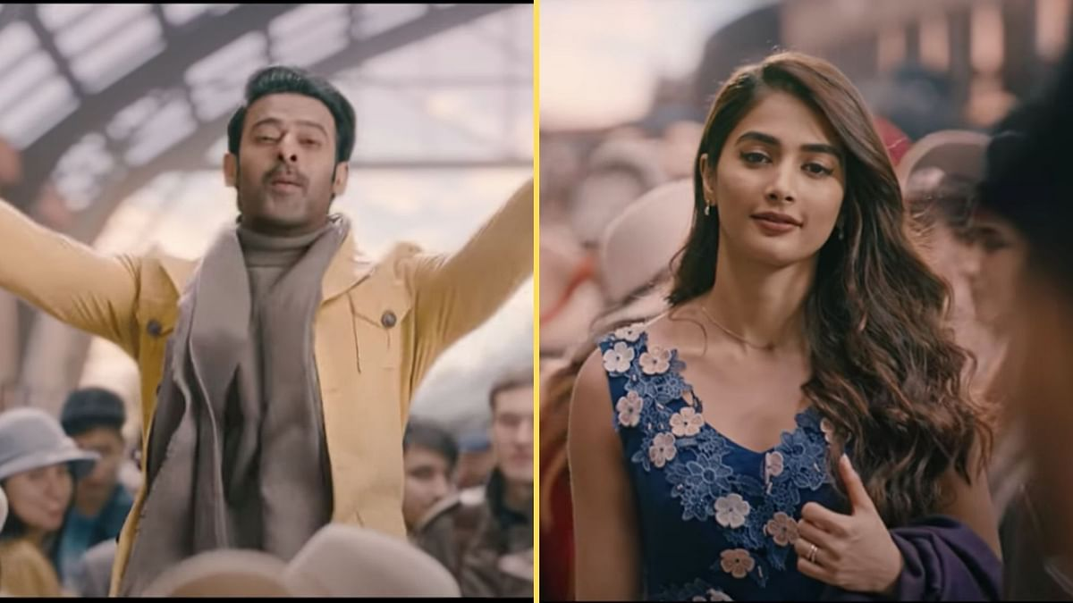 <p>Prabhas and Pooja Hegde in a still from Radhe Shyam.</p>