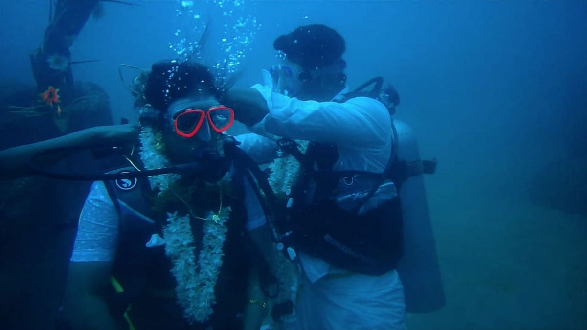 Chinnadurai has been a licensed scuba-diver for over eight years.